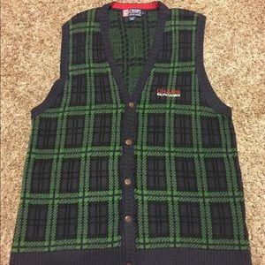 Chaps Ralph Lauren V-Neck Button Sweater Vest Rare